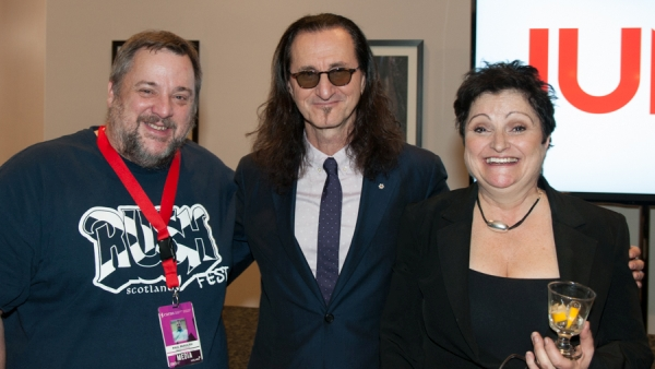 Paul Beaulieu, Geddy and Pegi at the 2015 JUNO Awards