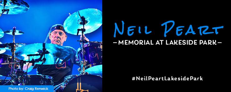 Neil Peart Memorial - Lakeside Park, St. Catharines