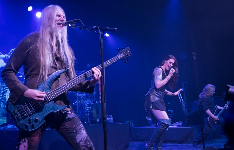 Marco Hietala, Floor Jansen, Emppu Vuorinen - Nightwish - Decades Tour - Rapids Theater, Niagara Falls, NY - 23-Mar-2018