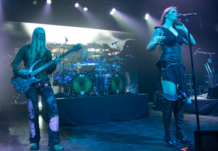 Marco Hietala, Kai Hahto, Floor Jansen - Nightwish - Decades Tour - Rapids Theater, Niagara Falls, NY - 23-Mar-2018