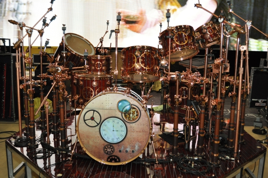 RUSH Time Machine Tour - Neil's Drum Kit front from left