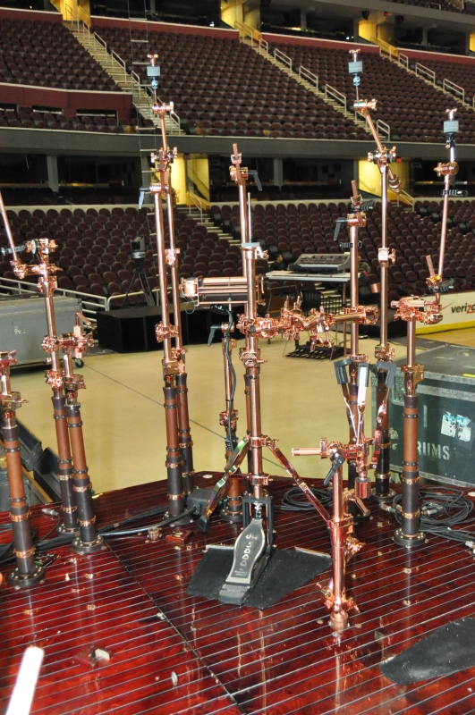 RUSH Time Machine Tour - Neil's Drum Kit Stands