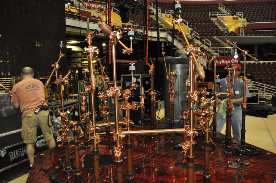 RUSH Time Machine Tour - Neil's Drum Kit Right Side Stands