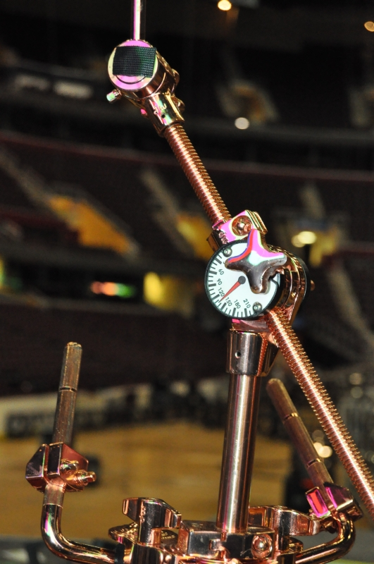 RUSH Time Machine Tour - Neil's Drum Kit Ride Cymbal Stand Close Up