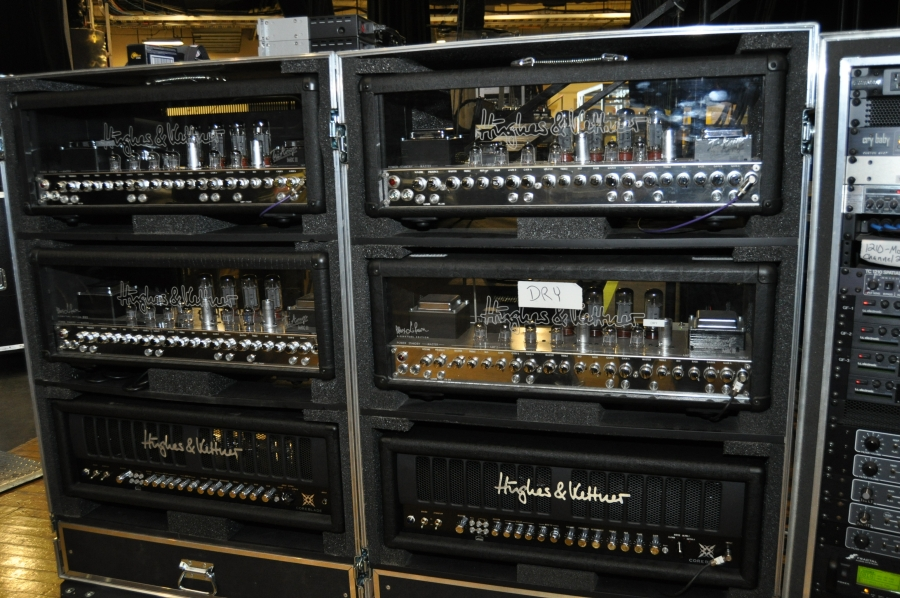 RUSH Time Machine Tour - Alex's Hughes & Kettner Amps
