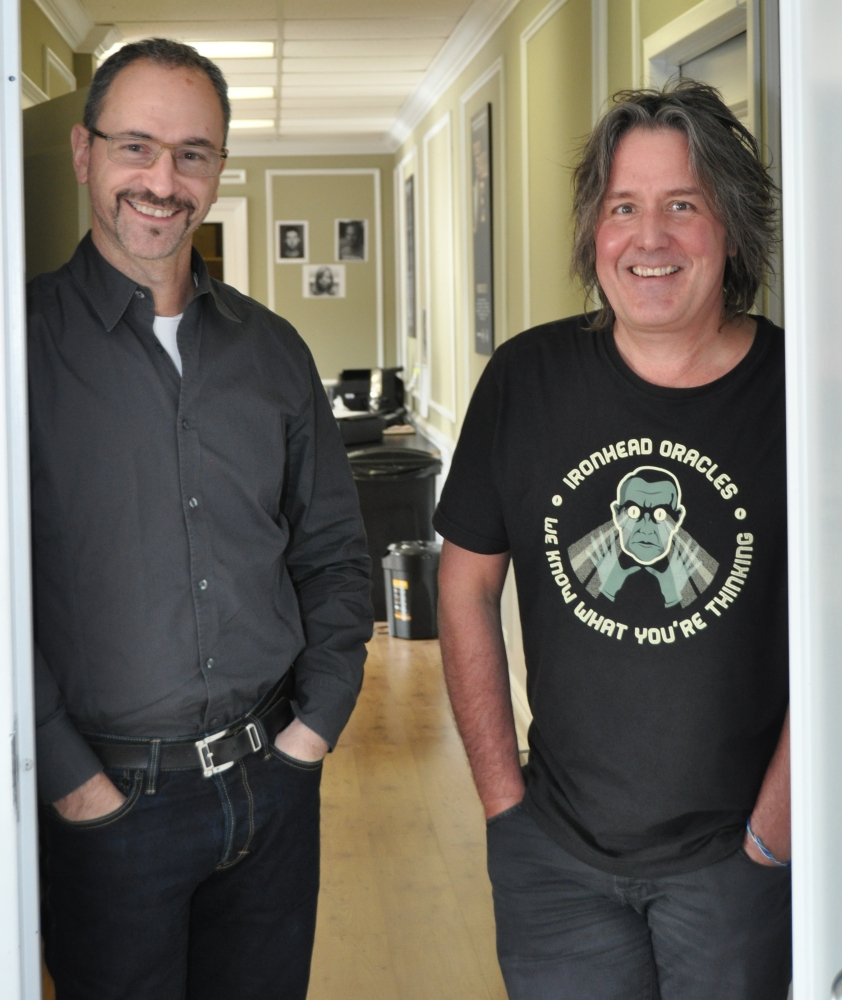 Allan Weinrib and Dale Heslip at Fadoo Productions, Toronto, Ontario, Canada