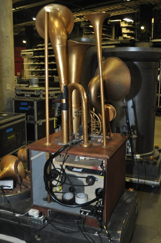 RUSH Time Machine Tour - Parts of Alex and Geddy's Backline waiting back stage