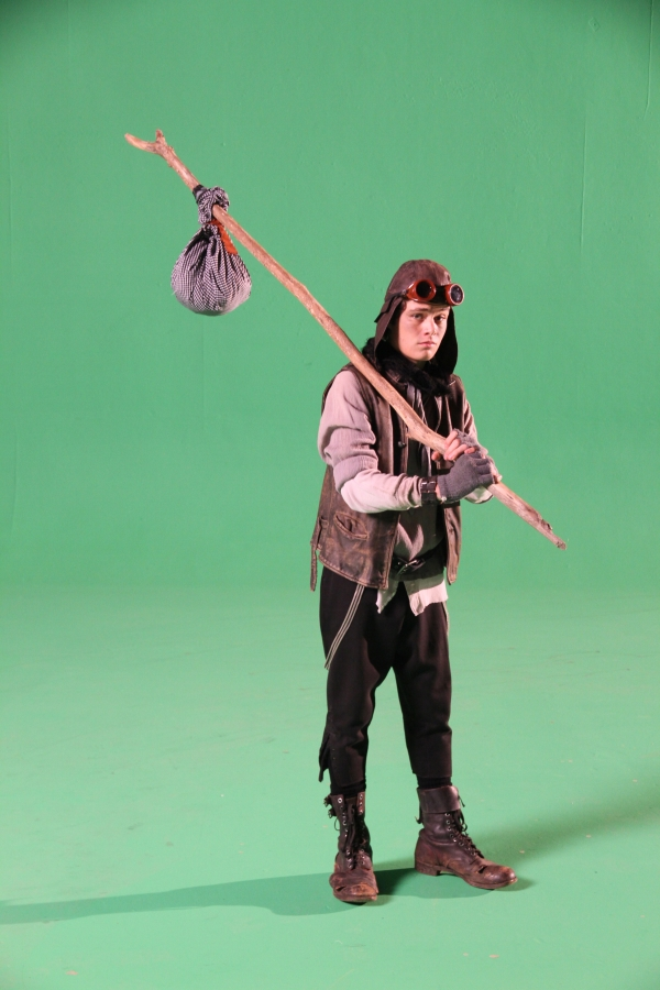 Dale's son Lucas on the green screen set for Clockwork Angels