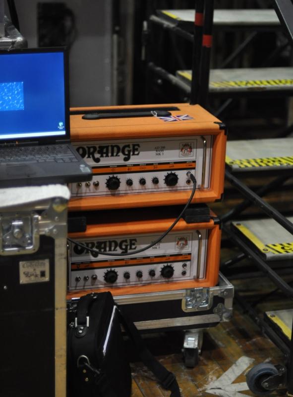 RUSH Time Machine Tour - Geddy Lee Orange amps