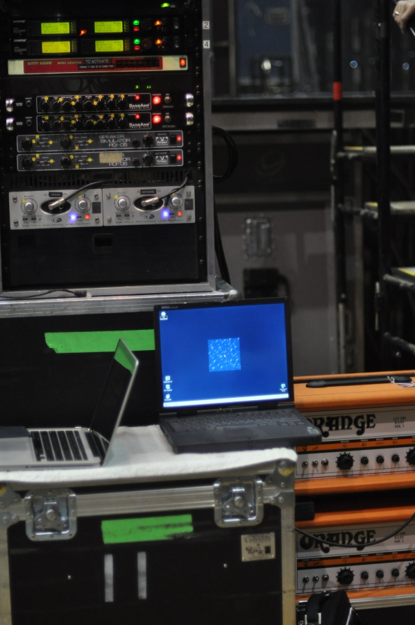 RUSH Time Machine Tour - Geddy Lee - Rack of Gear and Orange Amps