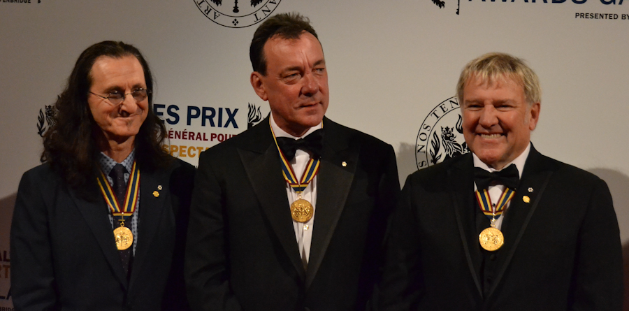 2012 Governor General Performing Arts Awards National Arts Centre - RUSH Geddy Lee, Neil Peart, Alex Lifeson