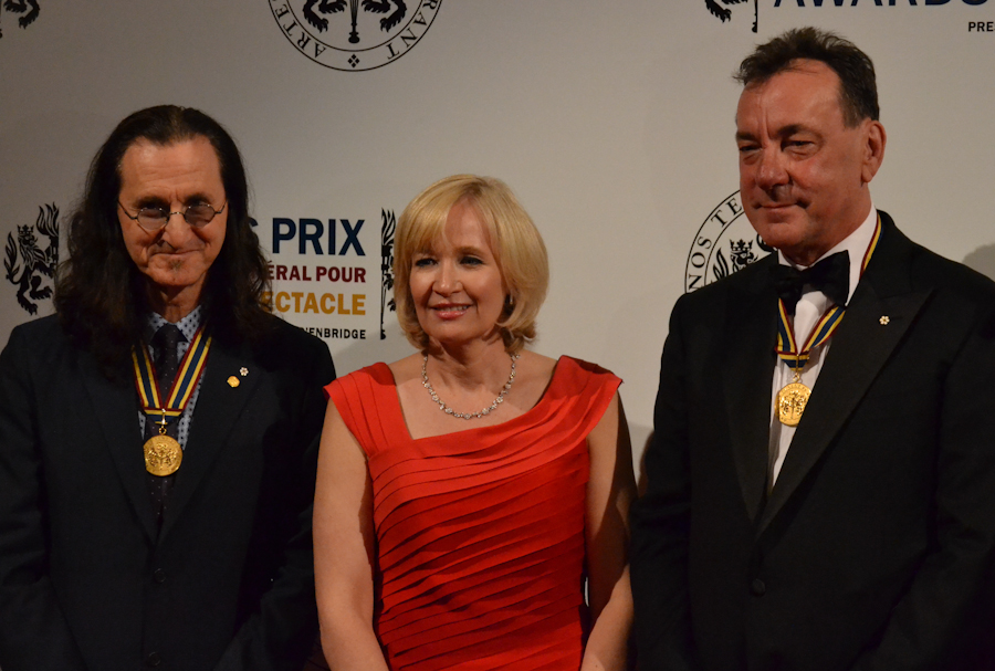 2012 Governor General Performing Arts Awards National Arts Centre - RUSH Geddy Lee, Laureen Harper, Neil Peart