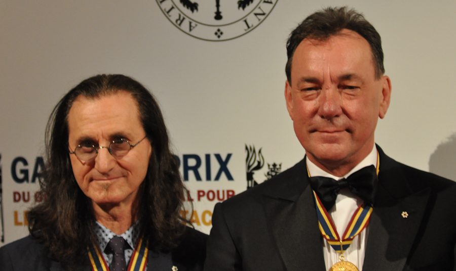 2012 Governor General Performing Arts Awards National Arts Centre - RUSH Geddy Lee, Neil Peart