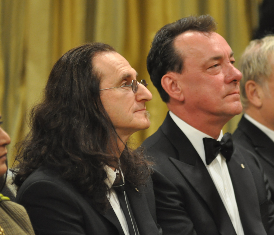 2012 Governor General Performing Arts Awards - RUSH Geddy Lee, Neil Peart