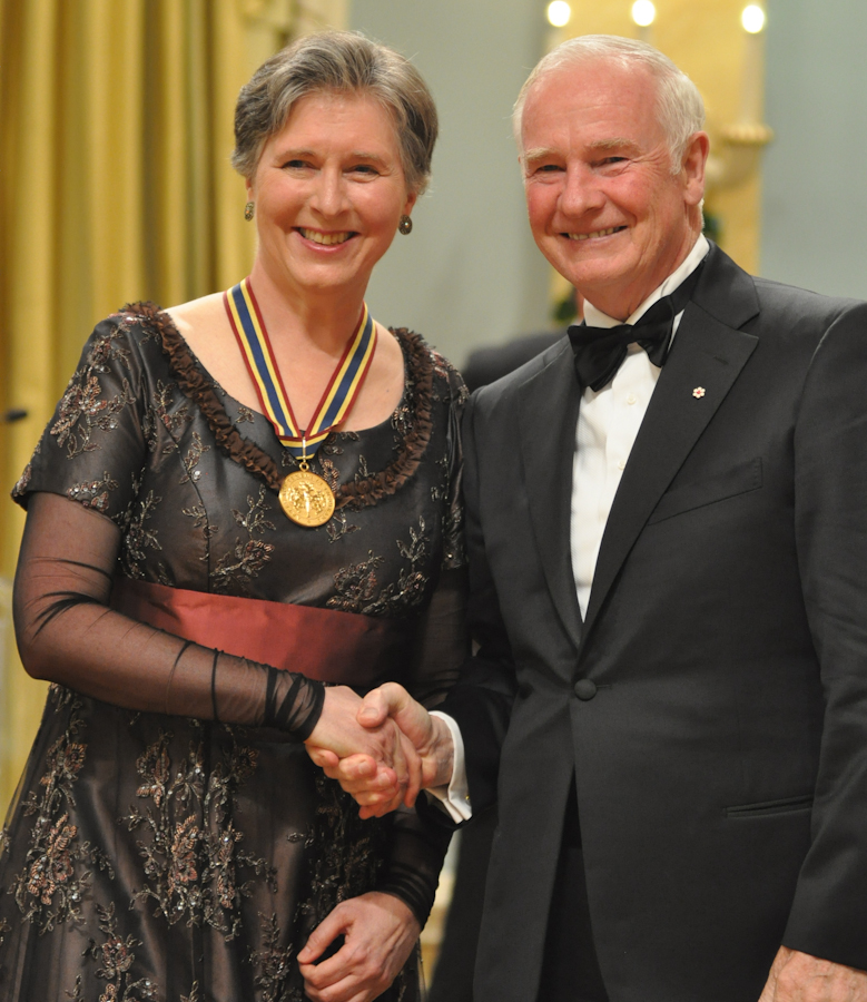 2012 Governor General Performing Arts Awards - Janina Fialkowska with Governor General David Johnston