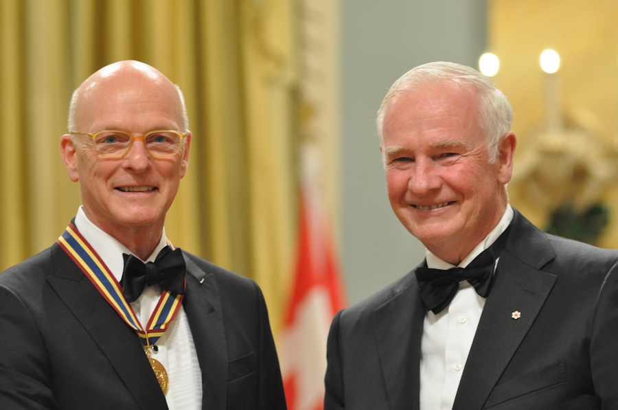 2012 Governor General Performing Arts Awards - Paul-Andre Fortier with Governor General David Johnston