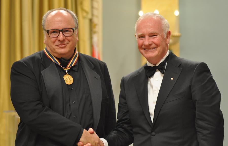 2012 Governor General Performing Arts Awards - Denis Marleau with Governor General David Johnston