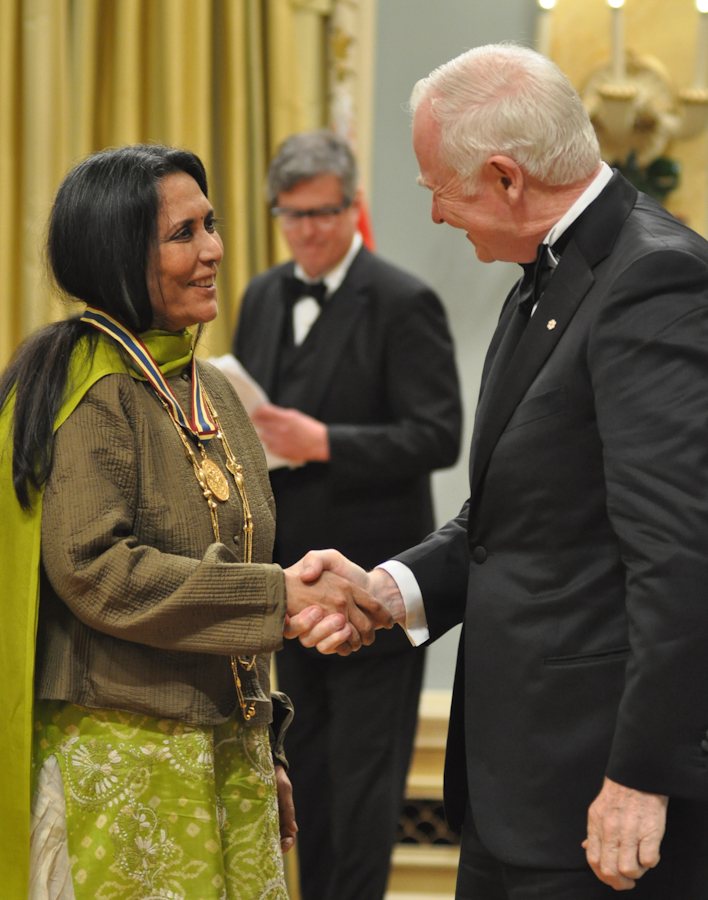 2012 Governor General Performing Arts Awards - Deepa Mehta with Governor General David Johnston