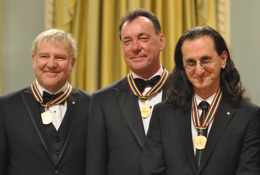 2012 Governor General Performing Arts Awards - RUSH Alex Lifeson, Neil Peart, Geddy Lee