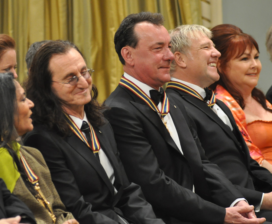 2012 Governor General Performing Arts Awards - RUSH Geddy Lee, Neil Peart, Alex Lifeson