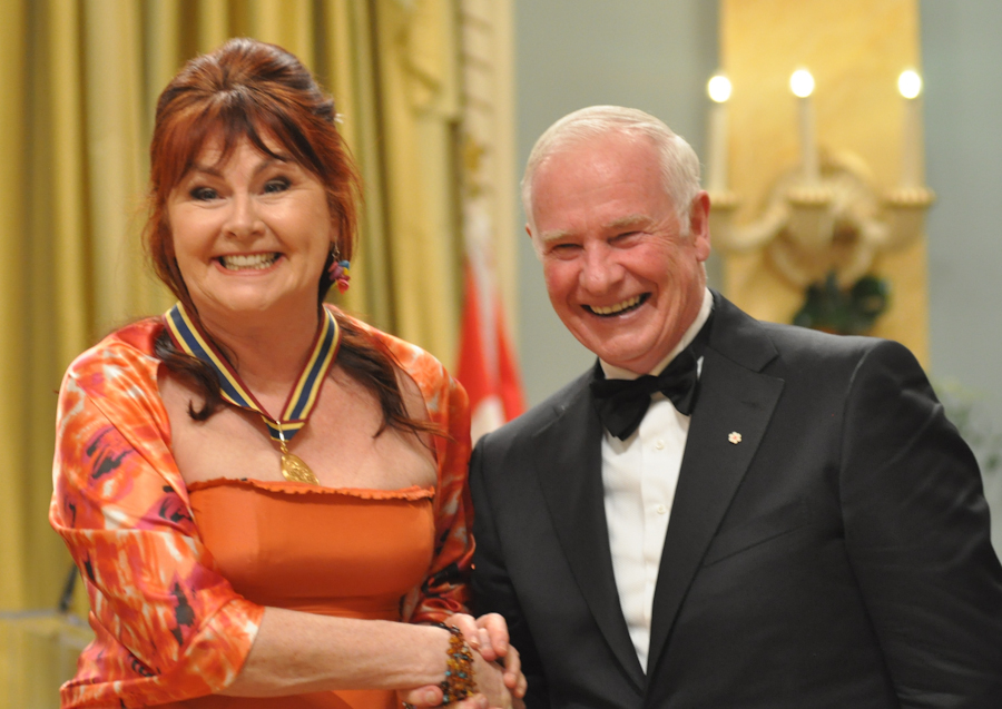 2012 Governor General Performing Arts Awards - Mary Walsh with Governor General David Johnston