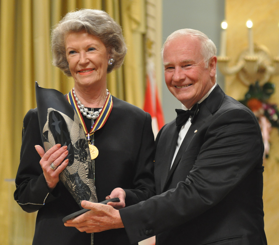 2012 Governor General Performing Arts Awards - Earlaine Collins with Governor General David Johnston