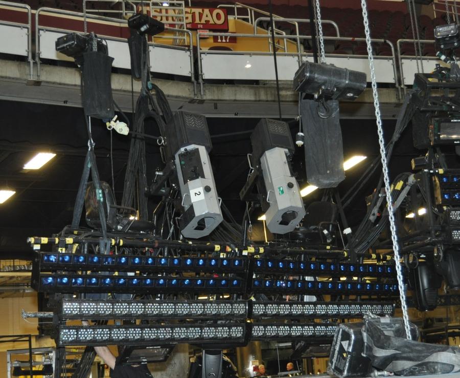 RUSH Time Machine Tour - Howard Ungerleider: Lycian M2 Spots with Altman MR-16 Striplights and Philips Kinetics Color Blaze Fixtures