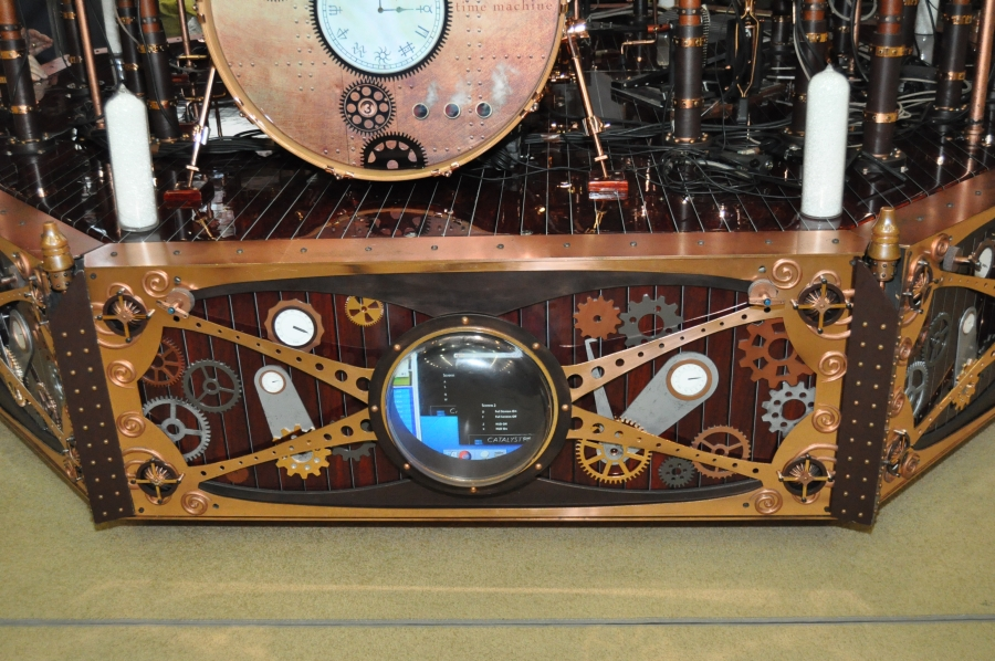 RUSH Time Machine Tour - Neil Peart Drum Riser Showing Video Feed