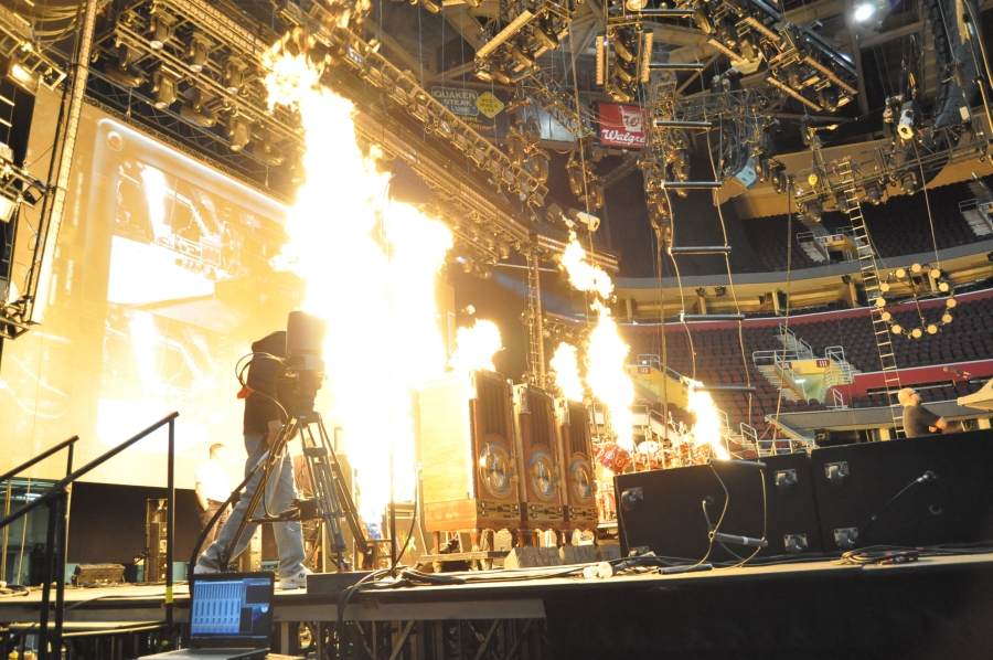 RUSH Time Machine Tour - Pyro Test in Cleveland