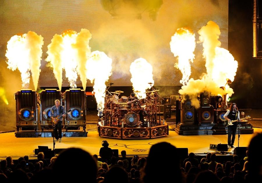 RUSH Time Machine Tour - Caravan CO2 Steam Effect plus Propane Flames at 80 PSI