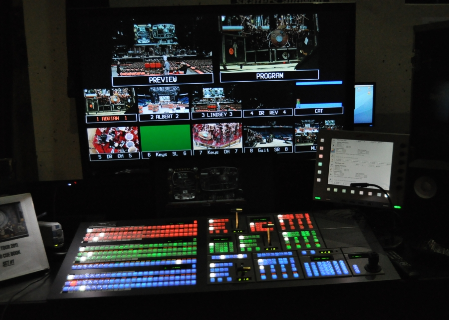 RUSH Time Machine Tour - Vision Video Control Board being tested..