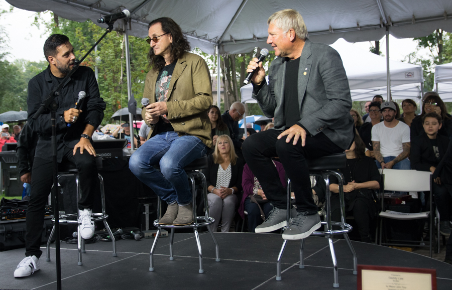 Lee Lifeson Art Park - George Stroumboulopoulos, Geddy Lee, Alex Lifeson