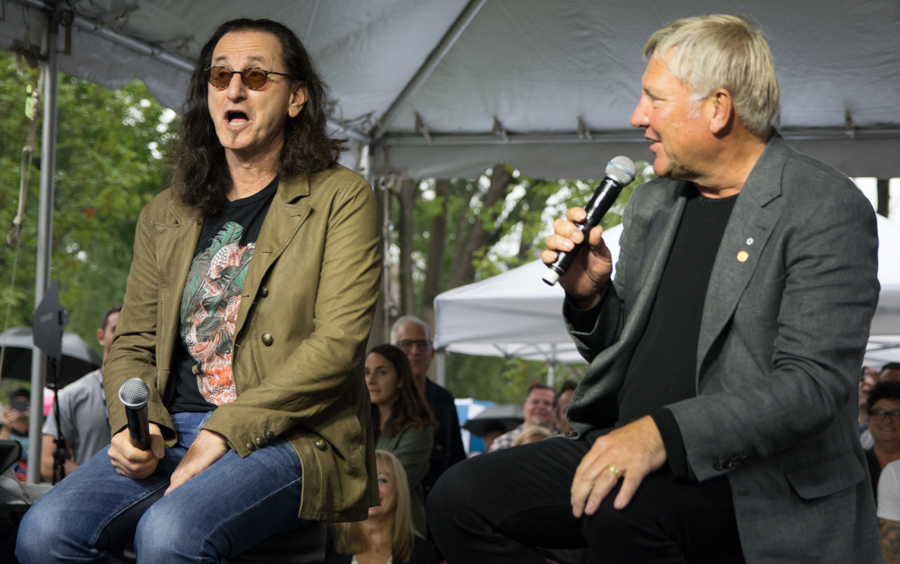 Lee Lifeson Art Park - Geddy Lee and Alex Lifeson
