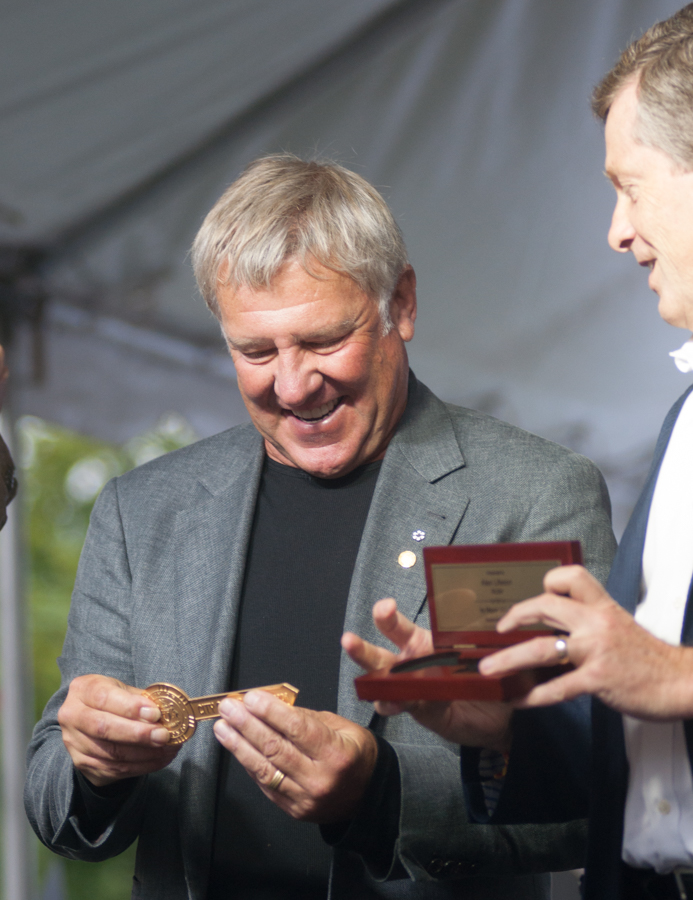 Lee Lifeson Art Park - Alex Lifeson receiving his key To The City